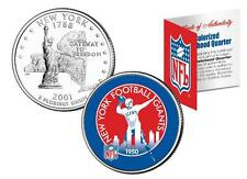 NEW YORK GIANTS * Licensed * NFL NY U.S. State Quarter Coin * RETRO * w/COA