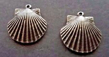 Sea Shell Silver Charms Earrings - 2 Included - Jewelry