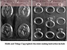 Engagement/Wedding Ring Candy Mold Bride and groom chcolate candy mold