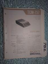 Sony tcm-757 service manual original repair book cassette tape player recorder