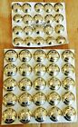 Military Staybrite buttons. Card of 25 Gibraltar Rgt., 1 other card. New