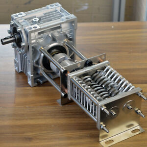 Stainless steel mini plastic shredder with reducer  recycle 3D printed plastic
