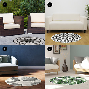 Vinyl Floor Mat Mosaic Pattern Non Slip Easy Clean Home Decoration 99 x 99cm
