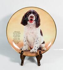 Danbury Mint Quote Springer Spaniels Decorative Plate Adoring Eyes *