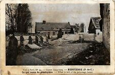 CPA MILITAIRE Hebuterne-Ce qui reste du presbytére (317348)