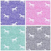 Perfect Poplin Silhouette Unicorn - 100% Cotton Fabric Dressmaking