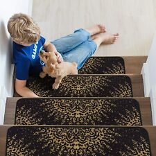 "Indoor Non Slip Carpet Stair Treads 8.5""x26"" Sets of 7 and 13"