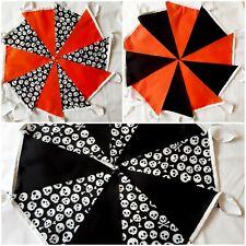 Halloween Fabric Bunting Handmade single ply
