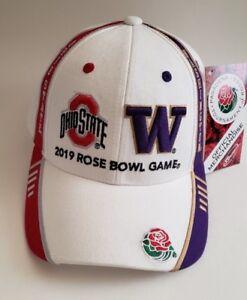 NWT 2019  Rose Bowl Huskies / Buckeyes White Dueling Cap