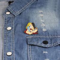 Wonder Woman Superwoman Kiss April O'Neal Enamel Pin Badge LGBT Free P&P