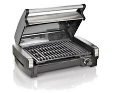 Hamilton Beach Electric Smokeless Grill And Searing Grill With Removable Plates