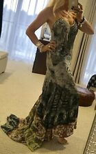 Camilla Franks Kaftan Maix Dress Elegant Silk Crystals Size 1 Only Worn Once EUC