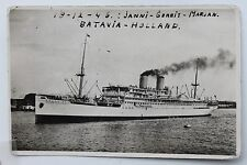 27377 Photo PC SS Nieuw Zeeland & Nieuw Holland Batavia-Holland 18.12.1946 Ship