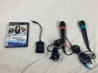 PS2 Singstar bundle (Country game + 2 microphones + USB converter dongle) Tested