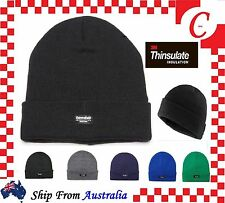 MEN WINTER Warm Ski Plain Knit THINSULATE 40G Thermal INSULATION BEANIE Hat Cap