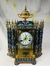 Old large Chinese Cloisoine Mantle Clock