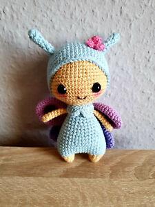 Schmetterling - Häkeltier - Häkelpuppe -Amigurumi