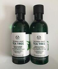 The Body Shop TEA TREE SKIN CLEARING FACIAL WASH & MATTIFYING TONER 250ml Each