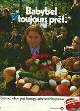 Publicité Babybel fromage Scout scoutisme cheese