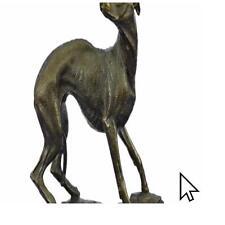 Signed Villanis Strong Greyhound Sa Bronze Sculpture Statue Figurine