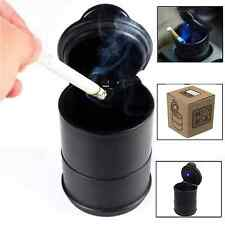 PORTABLE CAR TRAVEL OFFICE HOME CIGARETTE SMOKE ASHTRAY WITH LED LIGHT CARRY