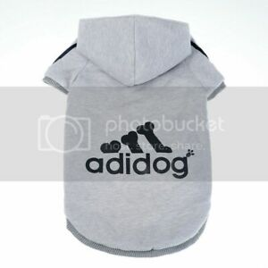 Adidog Grey Hoodie FOR SMALL DOGS Small Dog Sweater with Hood 2LEGS(Grey, Small)