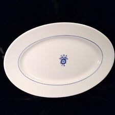 Vintage Usa T. S. Quartermaster Transport Service Large Platter Greenwood China