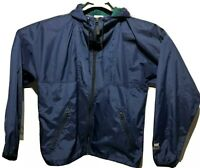 Helly Hansen Men's Blue Windbreaker Lightweight Rain Jacket/Coat Size Small