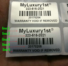 """5000PCS Customized Removed Tamper Proof Evident Warranty Stickers1.57""""*0.79"""""""