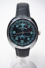 Russian mechanical watch RAKETA Junkers-87. 24H Black dial. 39mm
