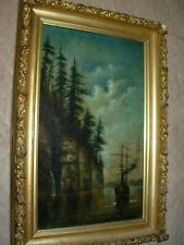 ANTIQUE MARITIME OIL PAINTING
