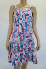 T by Bettina Liano Ladies Patchwork Floral Dress size 10 Multi Colour Floral