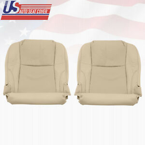 Fits 2006-2013 Lexus IS250 Left & Right Bottom Seat Cover Perforated Leather Tan