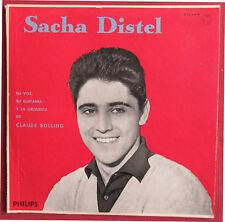 """SACHA DISTEL 25 CM 10""""  LP ORIG URUGUAY  SU VOZ , SU GUITARRA Y CLAUDE BOLLING"""