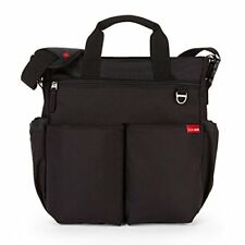SKIP HOP New Duo Deluxe Diaper Bag Black 200001 Stroller or Shoulder NWT