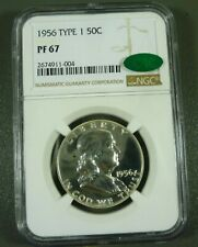 1956 Type 1 Proof Franklin Half Dollar - NGC PF67 CAC Verification