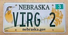 """GRAPHIC BIRD VANITY LICENSE PLATE """" VIRG 2 """" VIRGIE  VIRGINIA  VIRGE"""