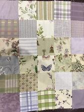 Patchwork Quilt Topper Cot Size Charm Fabrics Cotton