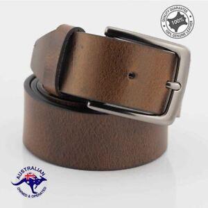 Genuine Full Grain Premium Leather Classic Men's Jeans Belt Designed in Melbou