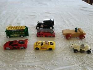 Lot diecast, wooden, plastic cars