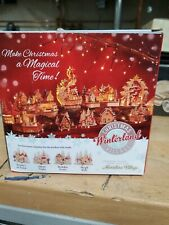 Christmas Winterland village Holiday Frolic . Measures 5.9x3.35x5.51 new in box
