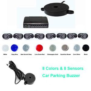 Car Parking Sensor 8 Sensors DC12V Radar Detector System Kit Backup 8 Colors