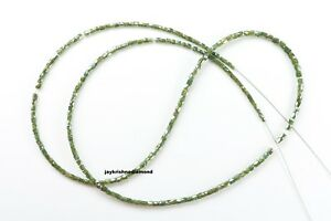 """13.08 CT Natural Blue Greenish Diamond Beads 16""""Strand With Silver Claps"""
