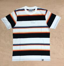 Carhartt Wip Sunder Stripe T shirt Wax White Black Cotton Jersey Ship World