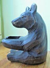 allemagne  Antique Hand Carved Black Forest bear. ours foret noir  germany
