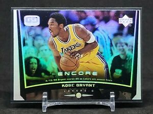 1998-99 Upper Deck Encore Kobe Bryant Game-Dated Refractor, LA Lakers