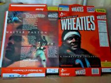 Walter Payton Chicago Bears Wheaties Flat Cereal Box