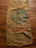 Vintage Burlap Bag Pillsbury's Best Feeds Scratch 37 x 18