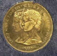 Victoria - Elizabeth 1867 - 1967 Canada Confederation Medallion in Case