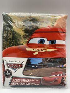 Brand New Disney Pixar Cars 2 Piece Toddler Sheet Set in package